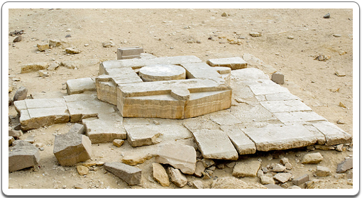 The monumental altar at the Solar Temple of Niuserre at Abu Gorab.