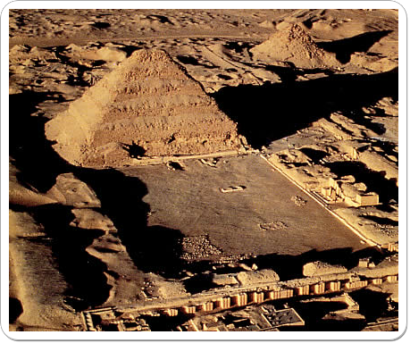 Aerial view of the funerary complex of Horus Netjerikhet.