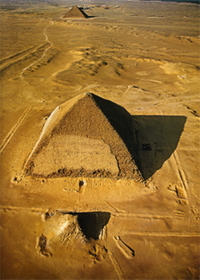 Snofru's Bent Pyramid, seen from the air.