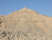 El-Qurn, the mountain peak on the Theban Westbank.