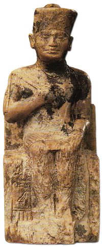 A small ivory statue is the only known statue to bear the name of Kheops.