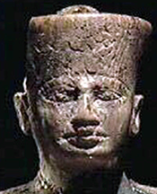 Detail of the small statue of Kheops.