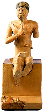 The restored statue of Neferefre.