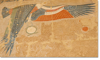 Nekhbet at the temple of Hatshepsut in Deir el-Bahari.