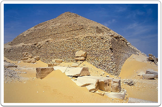View on the southeast corner of Pepi II's Pyramid.