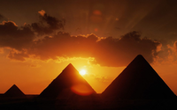 Sunset at Giza.