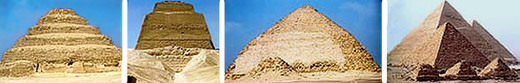 From Step Pyramid to geometrical pyramid.