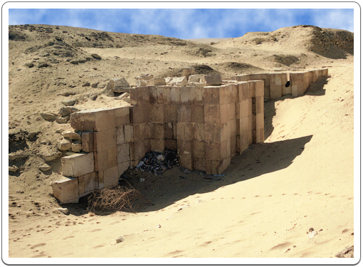 The enclosure wall of Sekhemkhet's funerary complex as left unfinished.