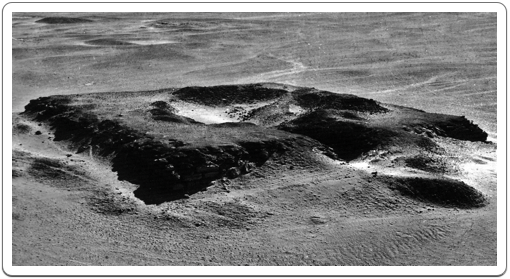 Neferefre's unfinished pyramid just before the excavation works started.