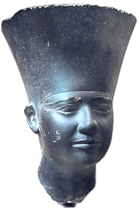 A very beautiful head of a schist statue of Userkaf was found in his Solar Temple.