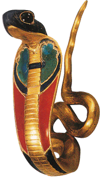 Uto, the cobra goddess, is often seen as a uraeus as part of the royal crowns.